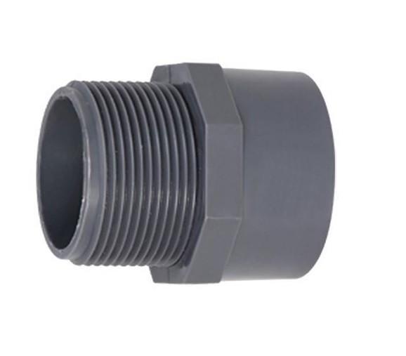 502369 PVC-Gewindemuffe mit Außengewinde 40mm x 1 1/4 Zoll Econo Line