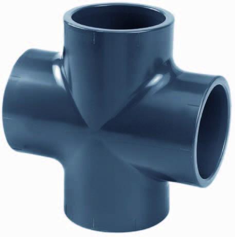 502441 PVC-Kreuzstück 90° 10mm