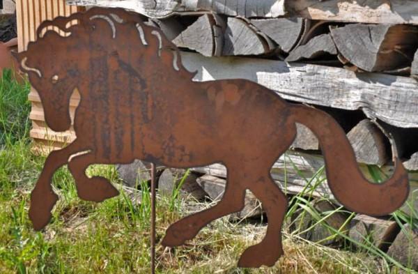 SWI0153 Edelrost Pferd Friese, ca.50cm x 70cm