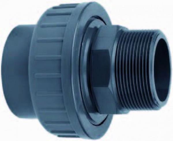 AG324 PVC-Kupplung  50x 1 1/2 Zoll 1x Außengewinde + Klebemuffe