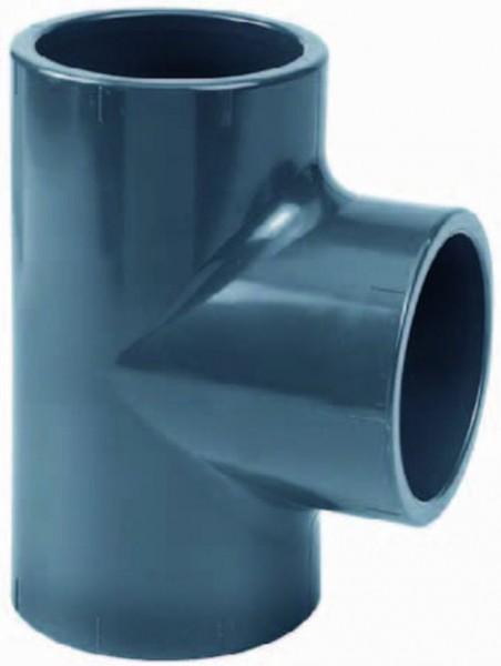 502381 PVC-T-Stück 90° 90 mm