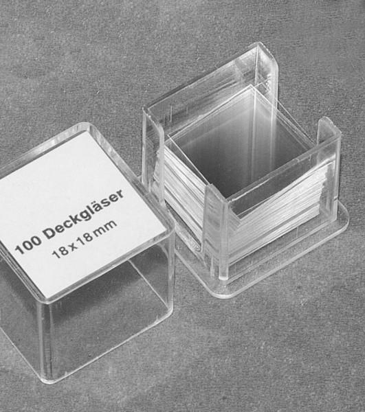 700090 Mikroskopierbesteck Deckgläser 100 Stück