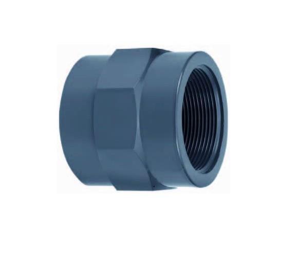 502133 PVC-Gewindemuffe mit Innengewinde 32x3/4 Zoll VDL