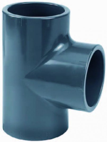 502383 PVC-T-Stück 90° 125 mm