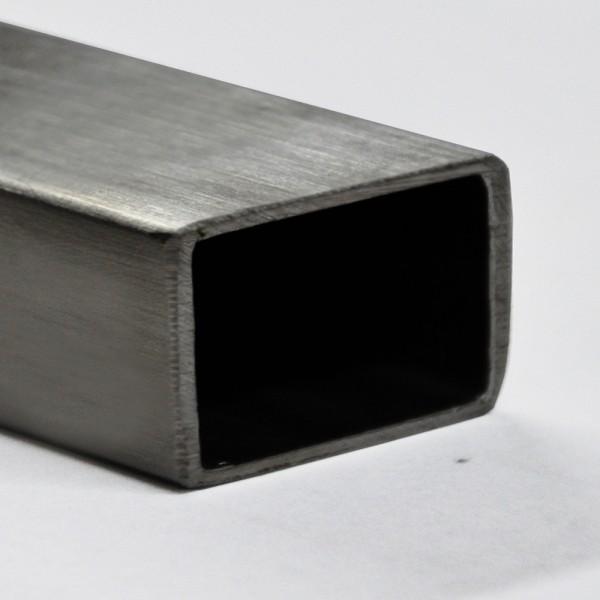 702164 Stahl Rechteckrohr Rohr Stahl Hohlprofil Vierkantrohr 60x20x2mm, 1meter