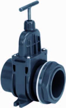 502525 PVC-Zugschieber 50mm mit Durchführung VDL