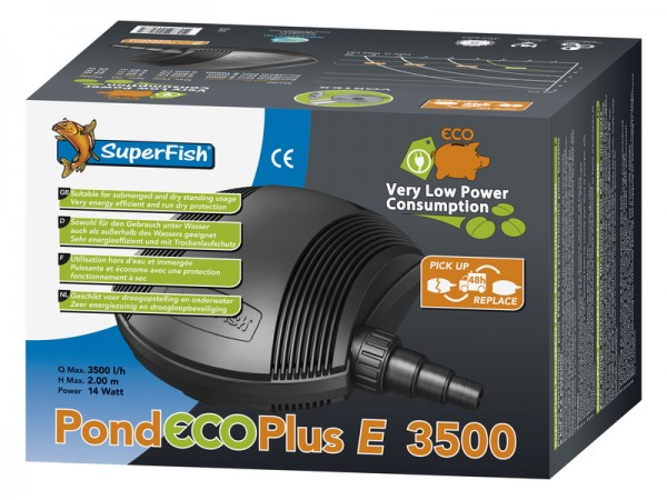708229 Superfisch Koiteich Pumpe Pond ECO Plus E 3500 14 Watt