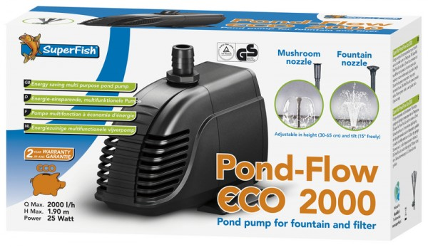 708222 SuperFish Pond Flow Eco 2000 Teichpumpe