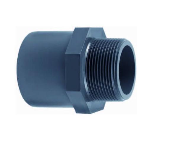 502295 PVC-Gewindemuffe mit Außengewinde 75x90x3 Zoll Effast