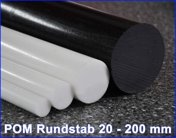 701879 G. POM-C Vollstab 165mm schwarz, 1meter