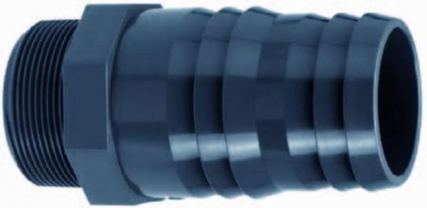 502254 PVC-Schlauchtülle 25mm Effast mit Aussengewinde