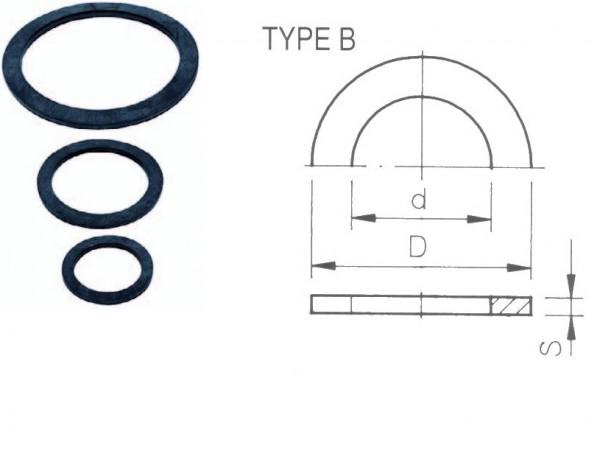 703154 Flachdichtung 63mm für PVC-Durchführung