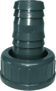 502581 PVC Schlauchtülle mit Überwurfmutter 14 x 12 mm