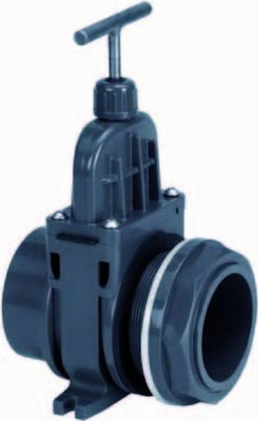 703150 PVC-Zugschieber 63mm mit Durchführung VDL